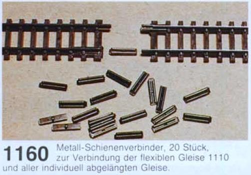 V1 20 Schienenverbinder 1160 Metall Arnold Spur N