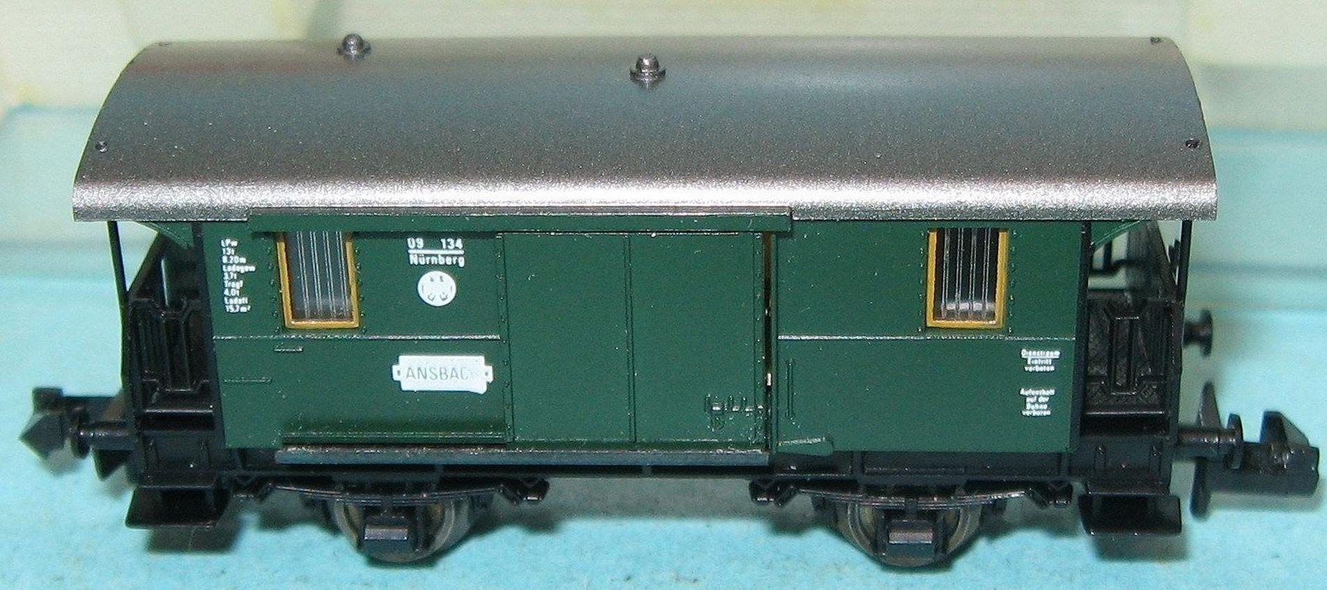Fleischmann piccolo N 8055 Gepäckwagen GwL der DRG
