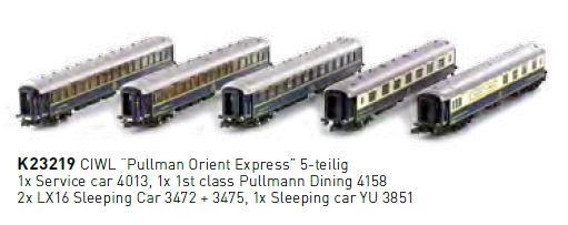 ausverkauft | KATO K23219 5 teiliges Wagen Set Pullmann